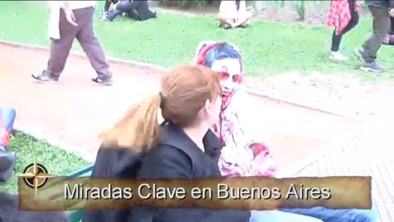 Recreación del video Thriller en Buenos Aires