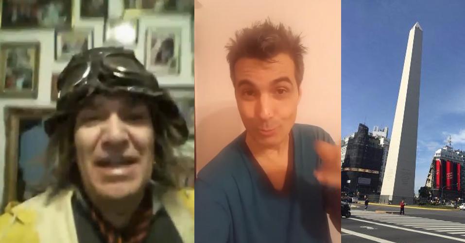 """Saludos desde Buenos Aires _ HERNAN CHIOZZA E IVAN RUSSO """"EL LINYERA""""."""